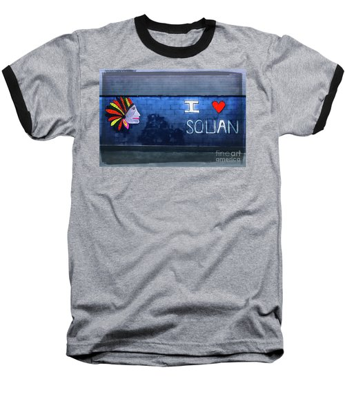 Baseball T-Shirt featuring the photograph I Love Squan  by Colleen Kammerer
