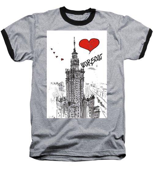 I Love Warsaw Baseball T-Shirt