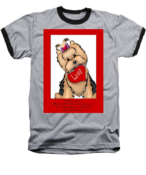 I Love You Baseball T-Shirt
