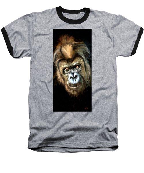 Gorilla Portrait Baseball T-Shirt