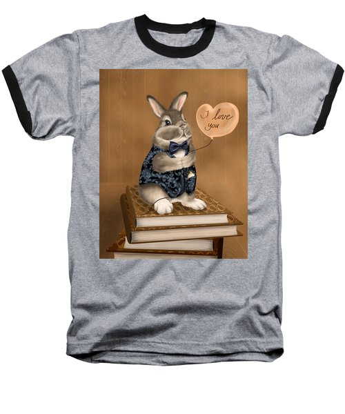Baseball T-Shirt featuring the painting I Love You by Veronica Minozzi