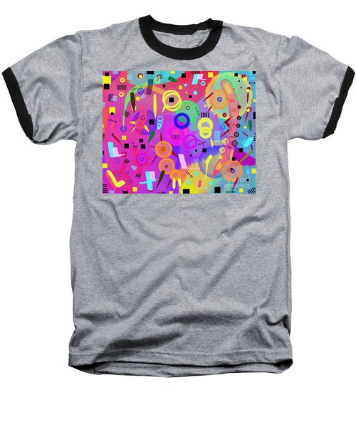 Baseball T-Shirt featuring the digital art I Once Was Happy by Silvia Ganora