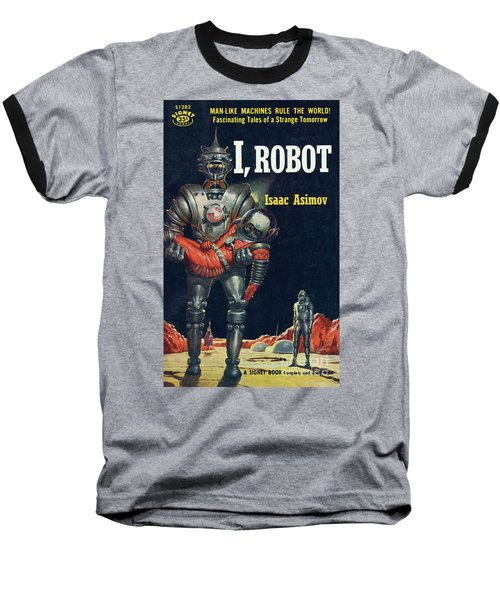 Baseball T-Shirt featuring the painting I, Robot by Robert Schulz