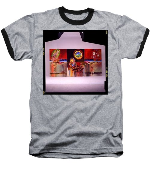 Baseball T-Shirt featuring the painting I Saw The Figure Five In Gold by Charles Stuart