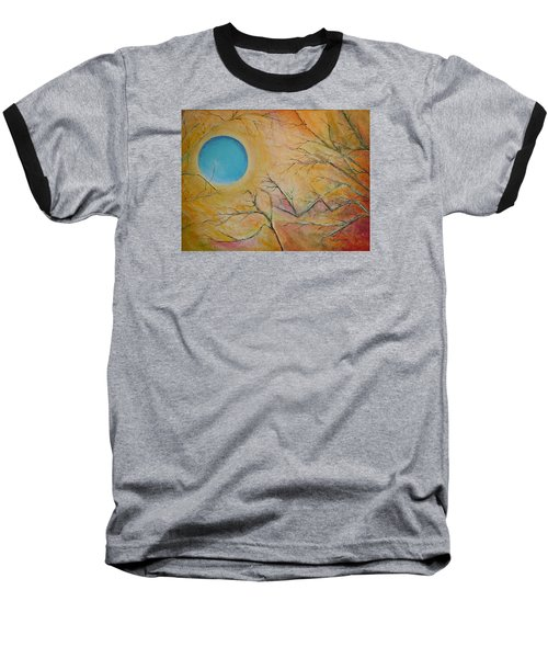 Baseball T-Shirt featuring the painting I Saw You Standing Alone by Dan Whittemore