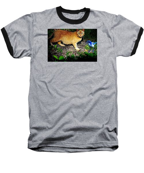 I See A Puddy Kat Baseball T-Shirt by Nick Kloepping