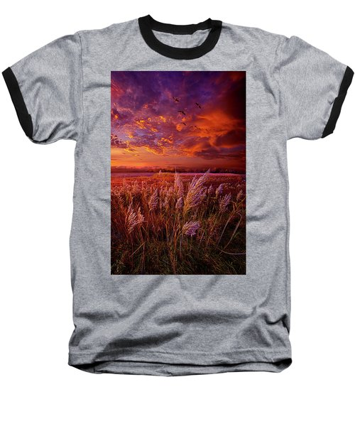 Baseball T-Shirt featuring the photograph I Spoke To God Today by Phil Koch
