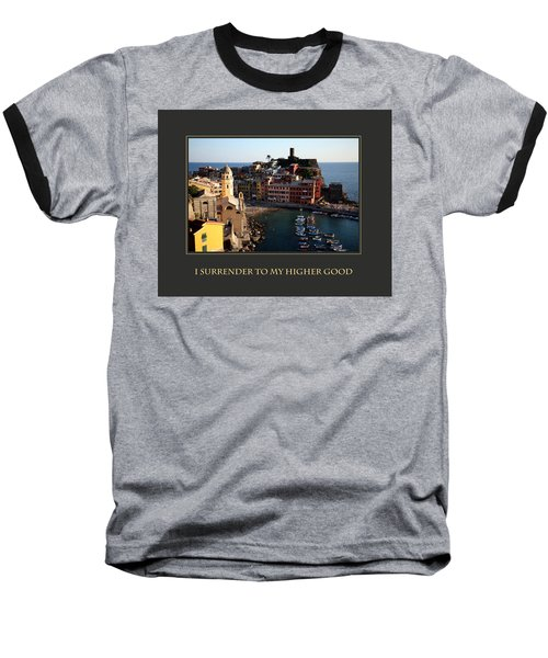 Baseball T-Shirt featuring the photograph I Surrender To My Higher Good by Donna Corless