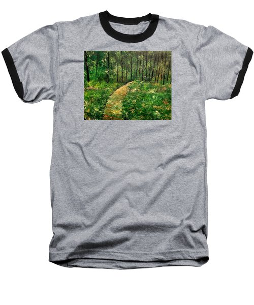 I Think It's Time For Our Walk Baseball T-Shirt by Lisa Aerts