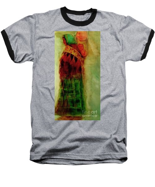 Baseball T-Shirt featuring the painting I Walk by FeatherStone Studio Julie A Miller