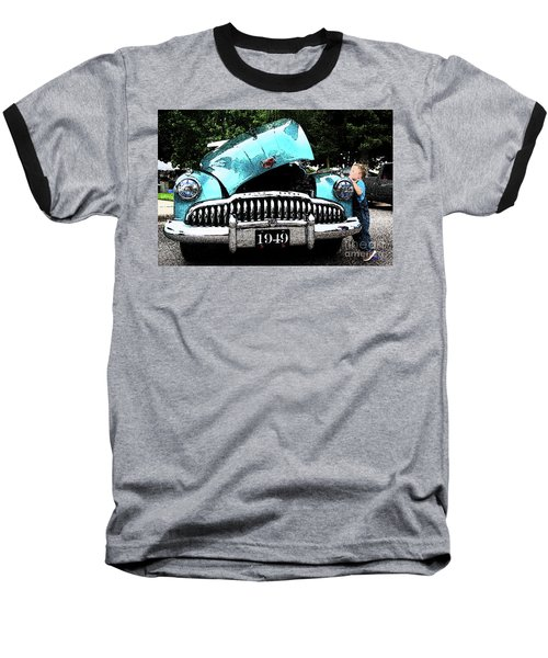 Baseball T-Shirt featuring the photograph I Want To See by Vicki Pelham
