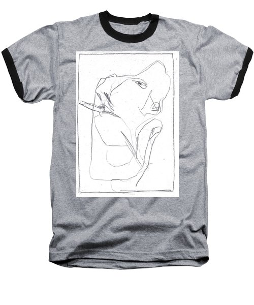 I Was Born In A Mine 7 Baseball T-Shirt
