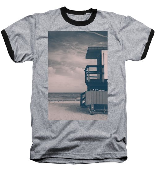 Baseball T-Shirt featuring the photograph I Was Checkin' On The Surfin' Scene by Yvette Van Teeffelen