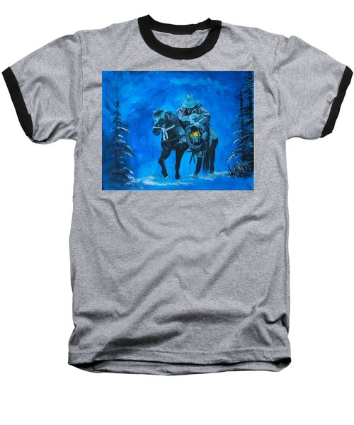 Baseball T-Shirt featuring the painting I Will Carry You by Leslie Allen