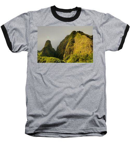 Iao Needle And Mountain Baseball T-Shirt