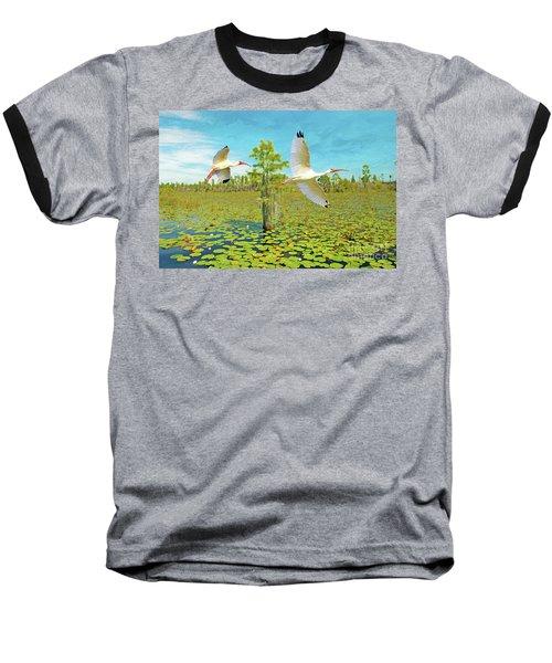 Ibis At Okefenokee Baseball T-Shirt