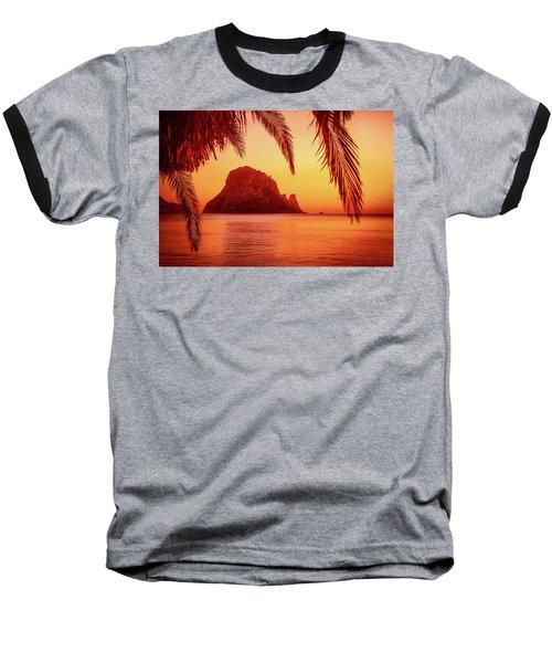 Ibiza Sunset Baseball T-Shirt by Iryna Goodall