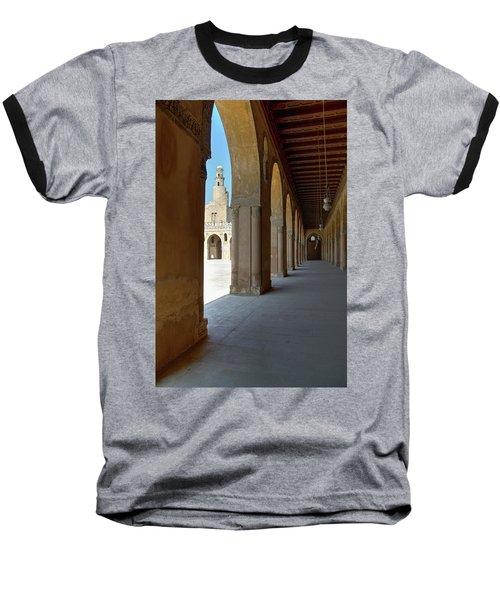 Ibn Tulun Great Mosque Baseball T-Shirt by Nigel Fletcher-Jones
