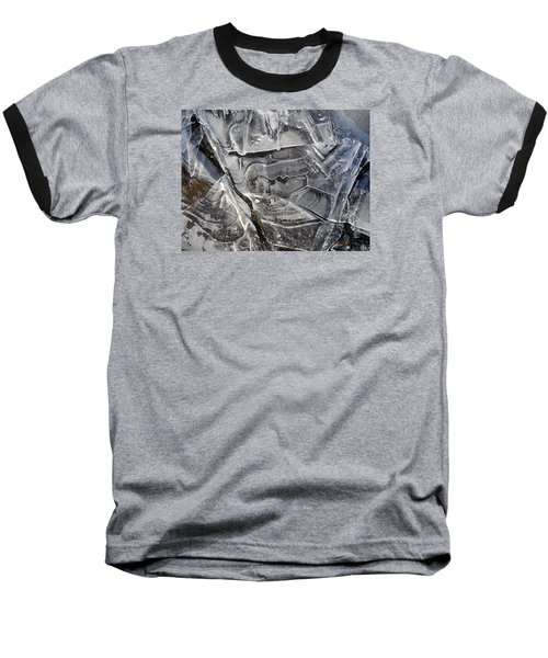 Baseball T-Shirt featuring the photograph Ice Abstract by Lynda Lehmann