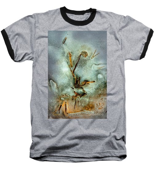 Baseball T-Shirt featuring the photograph Ice Abstract by Tom Cameron