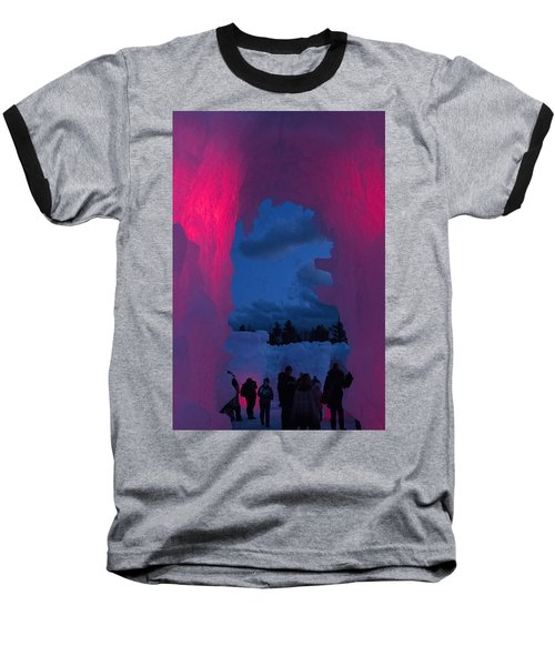 Ice And Colors  Baseball T-Shirt by Betty Pauwels