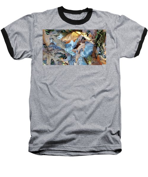 Ice And Fallen Leaves Baseball T-Shirt