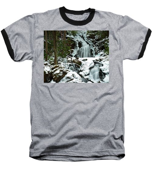 Ice And Snow, Mouse Creek Falls, Great Smoky Mountain National Park Baseball T-Shirt