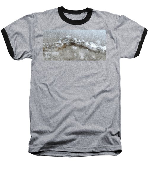 Ice And The Beach Four  Baseball T-Shirt by Lyle Crump