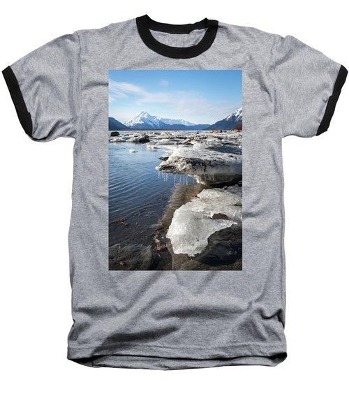 Ice Chunks In The Chilkat Estuary Baseball T-Shirt