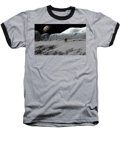 Ice Cliffs Of Europa Baseball T-Shirt