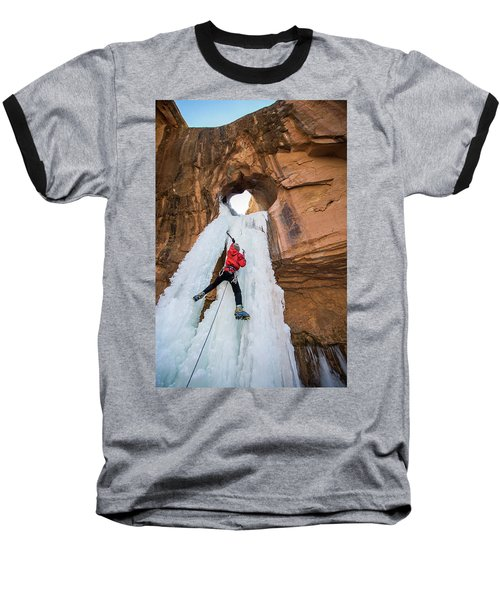 Ice Climber Baseball T-Shirt