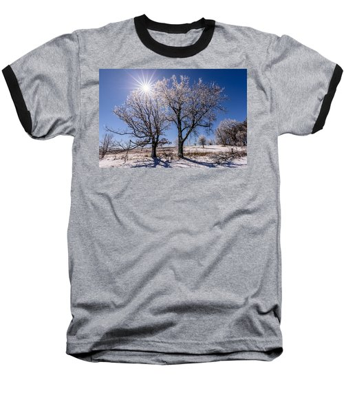 Ice Coated Trees Baseball T-Shirt