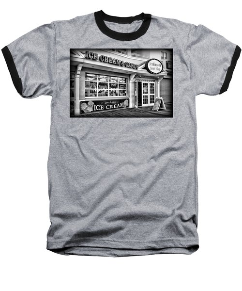 Ice Cream And Candy Shop At The Boardwalk - Jersey Shore Baseball T-Shirt