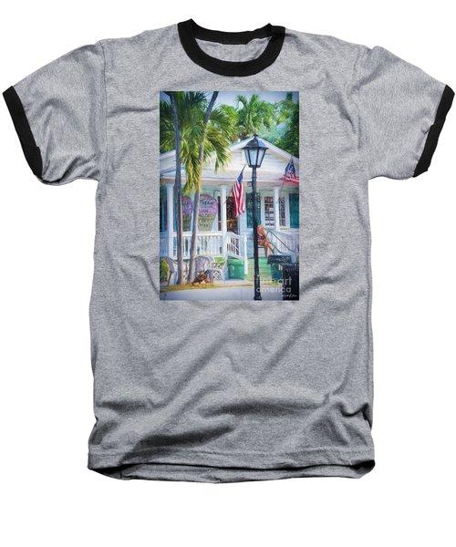 Ice Cream In Key West Baseball T-Shirt by Linda Olsen