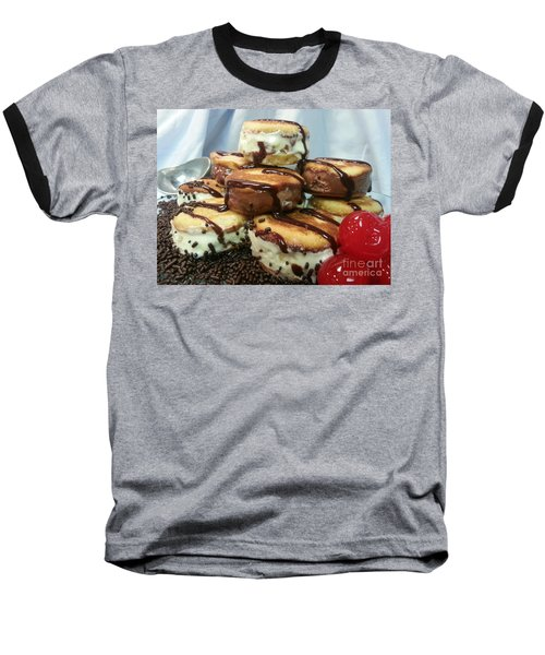 Ice Cream Sandwich Baseball T-Shirt