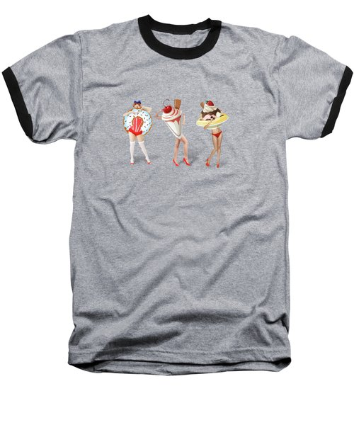 Ice Cream Woman 4 Baseball T-Shirt