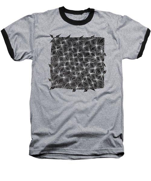 Ice Crystal Abstract  Baseball T-Shirt