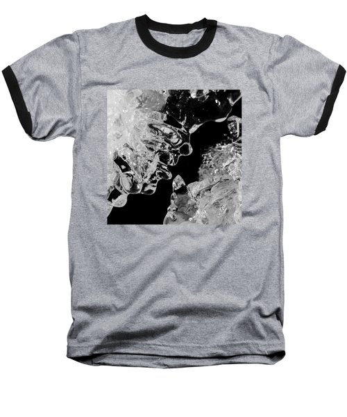 Ice Face Baseball T-Shirt by Konstantin Sevostyanov