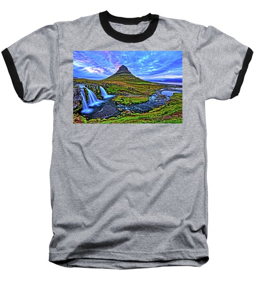 Baseball T-Shirt featuring the photograph Ice Falls by Scott Mahon