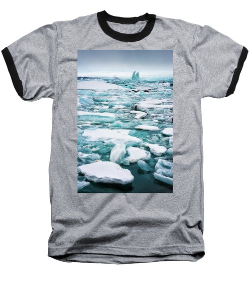 Baseball T-Shirt featuring the photograph Ice Galore In The Jokulsarlon Glacier Lagoon Iceland by Matthias Hauser
