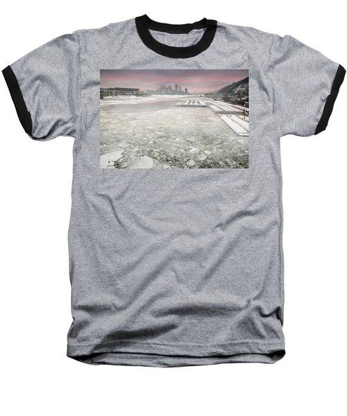 Frozen Allegheny River  Baseball T-Shirt