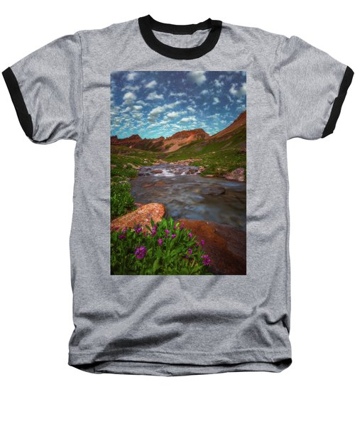 Baseball T-Shirt featuring the photograph Ice Lake Nights by Darren White