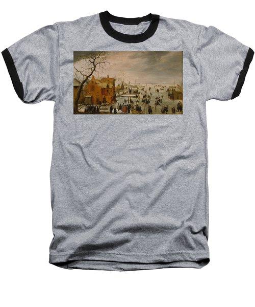 Ice Landscape Baseball T-Shirt