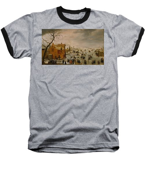 Ice Landscape Baseball T-Shirt