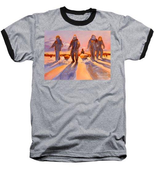 Ice Men Come Home Baseball T-Shirt by Kathy Braud