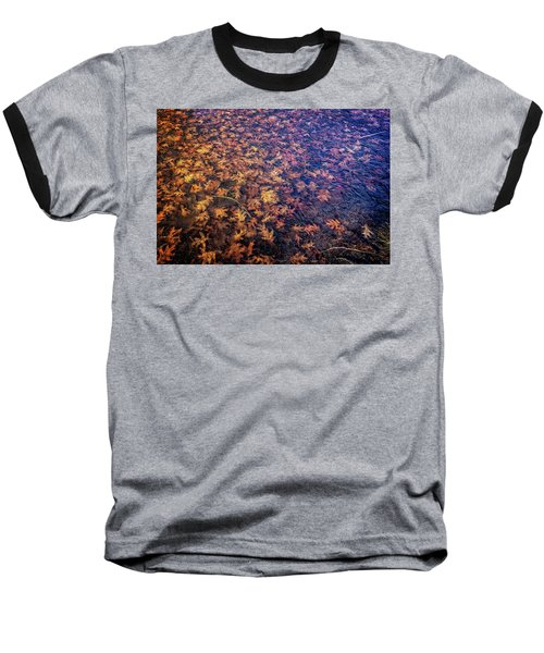 Ice On Oak Leaves Baseball T-Shirt