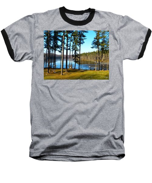 Ice On The Water Baseball T-Shirt by Donald C Morgan