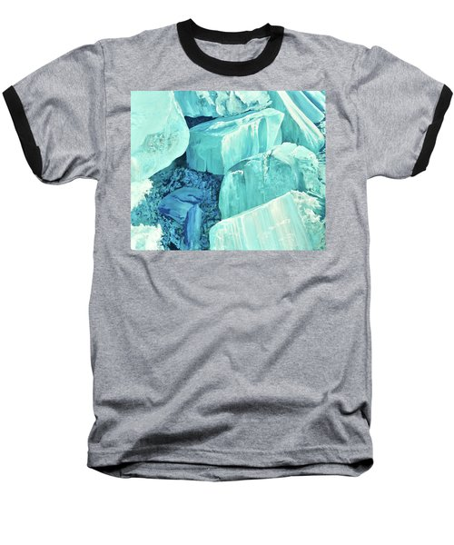 Ice Pushed Up On A Lake Baseball T-Shirt