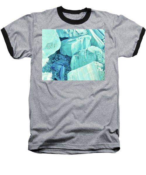 Ice Pushed Up On A Lake Baseball T-Shirt