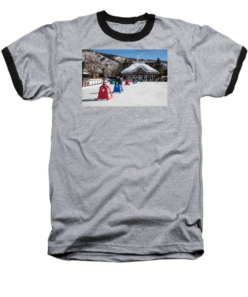 Ice Rink In Downtown Aspen Baseball T-Shirt